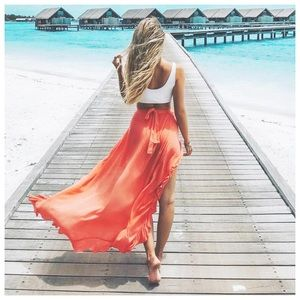 pretty sexy summer vacay bikini cover up skirt